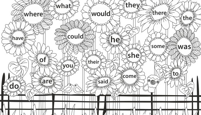Kindergarten Sight Word Games – Sunflower Field