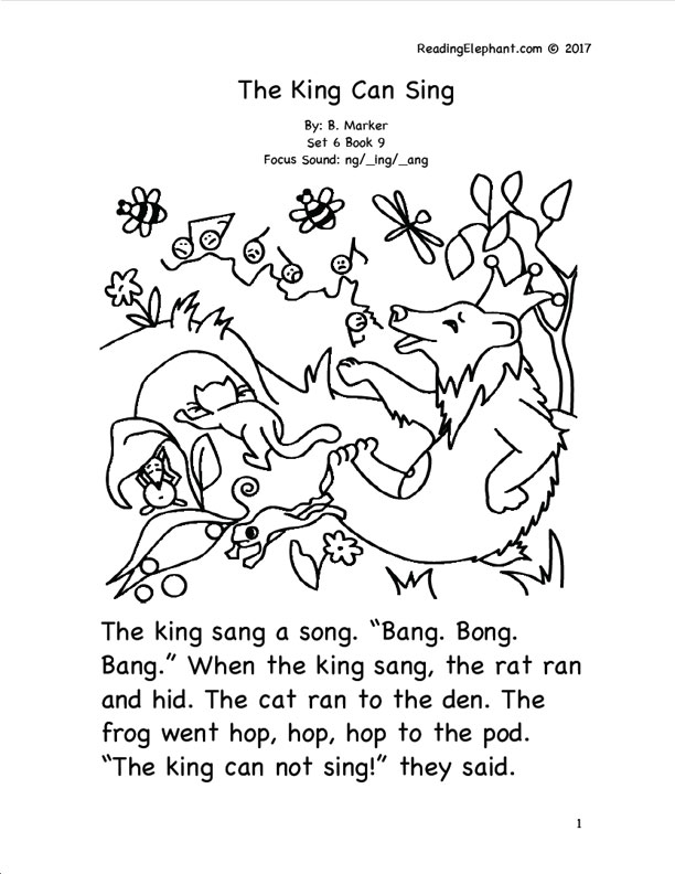 Phonics Stories for Kindergarten - Reading Elephant