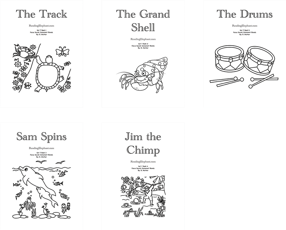 Printable Phonics Books Covers