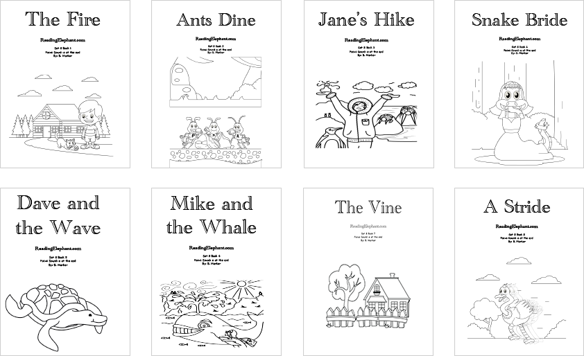 Printable Phonics Books Silent E Series