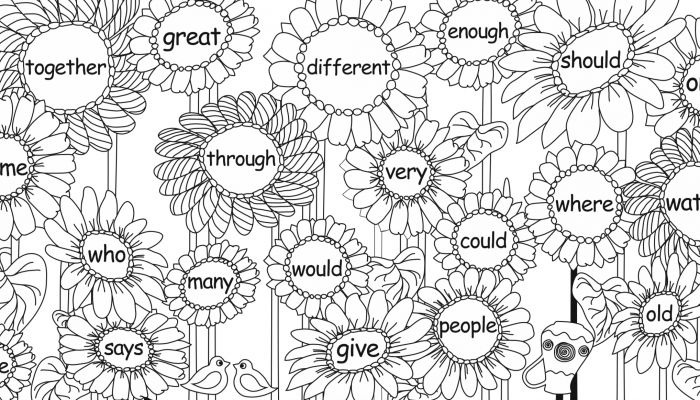 Sight Words PDF with Sunflowers